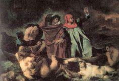 09. La barca de Dante. Delacroix.