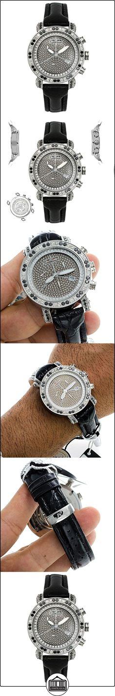 JOE RODEO Diamond Hombre Reloj-Classic Plata 3.5quilates  ✿ Relojes para hombre - (Lujo) ✿