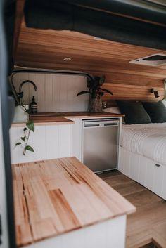 Van Conversion Interior, Camper Van Conversion Diy, Build A Camper Van, Diy Camper, Self Build Campervan, Bus Life, Camper Life, Door Linings, Minibus