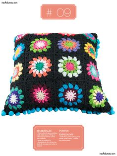 Crochet Almohadones #09 Tejido, Pillow Design, Cases, Colors