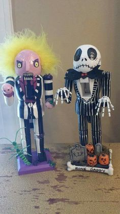 Beetlejuice and Jack Sceleton nutcracker
