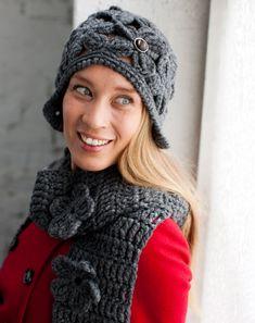 Virkattu hattu ja huivi – Katso ohjeet: Kotiliesi.fi - Crochet hat