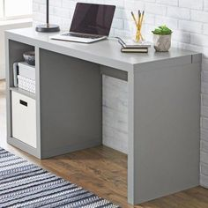 Laptop PC Table Home Office Computer Desk Workstation Study Storage Cube Shelf Home Office Space, Home Office Furniture, Office Desk, Cube Shelves, Cube Storage, Shelf, Cube Desk, Pc Table, Office Workstations