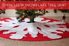 no sew tree skirt - Google Search