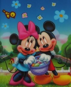 Easter Mickey Mouse and Minnie Mouse - mickey-and-minnie Photo