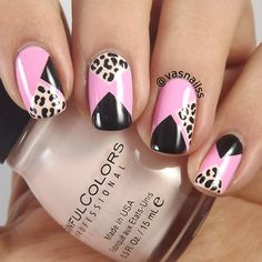 Leopard Blocked nail art by Vanesa - Nailpolis: Museum of Nail Art