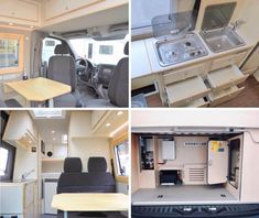 The interior of our Sprinter 4x4 known as 'Mister Benz'