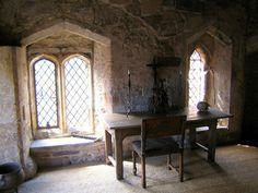 Desk and chair...medieval office.