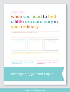 Emergency Printable Guided Journal Pages — Christie Zimmer Therapy Worksheets, Therapy Activities, Therapy Ideas, Journal Writing Prompts, Journal Pages, Yoga Journal, Coach, Journal Inspiration, Journal Ideas