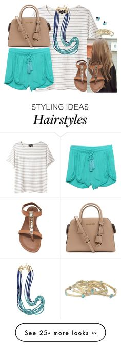 """""""And she'll continue to smile no matter how hurt she is."""" by kaley-ii on Polyvore featuring A.P.C., LA: Hearts, OLIVIA MILLER, Michael Kors, Kendra Scott and Kate Spade"""