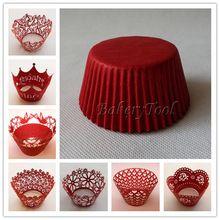 84 шт. красный серии лазерной резки завертчицы декоративные коробка 500 шт. кекс кружки для свадьбы(China (Mainland))