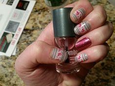 Feeling Festive with Raspberry Sparkle (retired but cherry ice works too) #theweeklyjam #feelingfestivejn #raspberrysparklejn #jamberry #nailart stephaw.jamberrynails.net