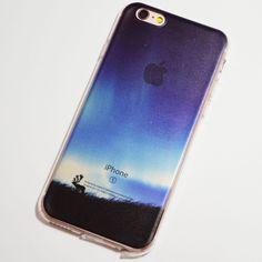 Moose under the Aurora Borealis Northern Lights iPhone 6 / 6S Transparent Soft Case
