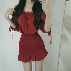 Korean Street Fashion - Life Is Fun Silo Korean Fashion Trends, Korean Street Fashion, Asian Fashion, Style Outfits, Cute Casual Outfits, Girl Outfits, Summer Outfits, Cute Fashion, Girl Fashion