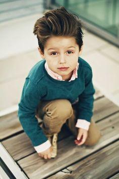 Ama bu çok tatlı :) So #cute #boy with awesome #hair