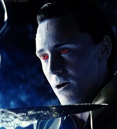 Loki Laufeyson...as a frost giant/Jotun. So beautiful and majestic! I can't see…
