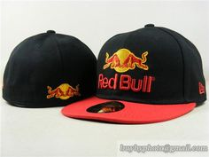 Red Bull 59Fifty Fitted Hats Racing Cap Redbull Hats Black Red 6035b1ab11fc
