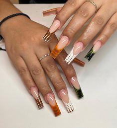 Acrylic Nails Coffin Short, Simple Acrylic Nails, Almond Acrylic Nails, Best Acrylic Nails, Dope Nail Designs, Acrylic Nail Designs, Romantic Nails, Acylic Nails, Neutral Nails