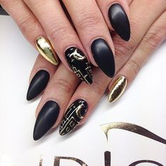 Matt Black & Gold|| I want these so bad but they're not practical for a medical student