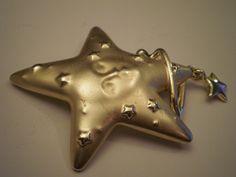 Vintage AJC Celestial Star Pin/Brooch by DiamondBranchJewelry