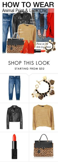 """How to Wear: Animal Print"" by asya-1 ❤ liked on Polyvore featuring MANGO, Betsey Johnson, Yves Saint Laurent, Topshop, NARS Cosmetics, Lanvin and Christian Louboutin"