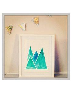 Little Pop Studio Geo Mountain Print