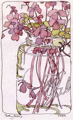 Rooting Oxalis in Bell Jar, Co...  ink and watercolor  Chris Carter