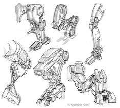 Posts about Concept art written by alcais Robot Concept Art, Armor Concept, Robot Design, Art Design, Character Concept, Character Art, Robots Drawing, How To Draw Robots, Robot Leg
