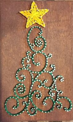custom string art holiday christmas tree star cincinnati ohio