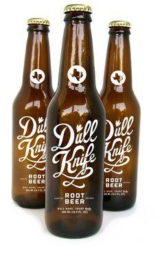 Dull Knife beer bottle design. packaging design I love