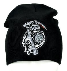 Sons of Anarchy Beanie Grim Reaper Clothing Knit Cap