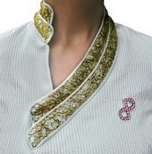 PORSCIA® YEGANEH® Trademark design collar- inspired by the architectural broke. - PORSCIA® YEGANEH® Trademark design collar- inspired by the architectural broken walls of the Roman colosseum – Made in Italy. — Source by glnaydn - Salwar Neck Designs, Kurta Neck Design, Neckline Designs, Kurta Designs Women, Dress Neck Designs, Sleeve Designs, Blouse Designs, Kurti Sleeves Design, Sleeves Designs For Dresses