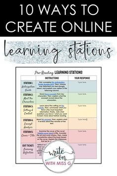 How to Structure Learning Stations Online | Learning stations, Teaching, Teaching first grade