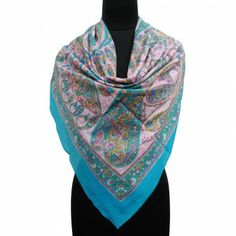 Buy Shoulder Wrap at IndianBeautifulArt offer A New Scarf Paisley Print Pure Silk Scarves Indian Women Shoulder Wrap Blue Stole . Summer Scarves, Scarf Summer, Summer Wear, Cotton Scarf, Beachwear For Women, Silk Scarves, Scarf Styles, Paisley Print, Fashion Accessories