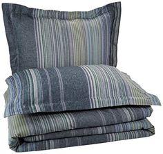 Pinzon Lightweight Cotton Flannel Duvet Set - Full/Queen, Blue Stripe Pinzon by Amazon.com http://www.amazon.com/dp/B00M2J4KXK/ref=cm_sw_r_pi_dp_gK70ub12E2TX8