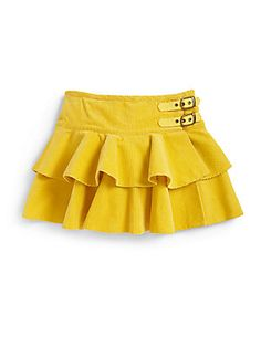 Ralph Lauren Toddler's & Little Girl's Corduroy Skirt (inspiration? Little Girl Skirts, Baby Girl Skirts, Baby Skirt, Skirts For Kids, Baby Dress, Kids Dress Wear, Baby Girl Dress Patterns, Cute Outfits For Kids, Toddler Dress