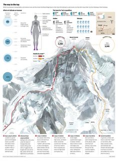 This is a really good visual to see what affects altitude have on the climbers and the common illnesses that occur to them. Many if these sicknesses were described in the book.