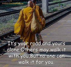 Walking on my road.