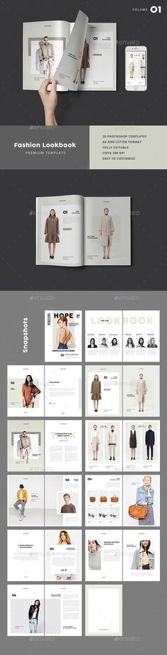 Fashion Lookbook - #Catalogs #Brochures Download here: https://graphicriver.net/item/fashion-lookbook/19236805?ref=alena994