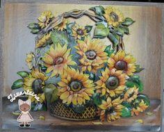 Quadro em Arte Francesa, moldura em pátina