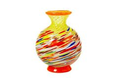 Rainbow Murano Vase