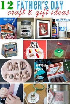 12 creative and crafty Father's Day gift ideas | curated by blog.thecelebrationshoppe.com Dad Day, Mom And Dad, Homemade Gifts, Diy Gifts, Craft Gifts, Fathers Day Crafts, Holiday Gifts, Holiday Ideas, Holiday Fun