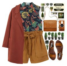 """""""Tropical vibes"""" by doga1 ❤ liked on Polyvore featuring MANGO, Steve Madden, LØMO, Clinique, Native Union, Ray-Ban, Nearly Natural, Bobbi Brown Cosmetics and Aesop"""