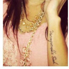 "Mine ;)- ""Unconquerable Soul""  #wrist_tattoos, #tattoos, #Unconquerable_Soul, #word_tattoos"