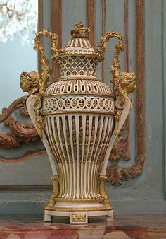 Pair of ivory vases (vases en ivoire)  ca 1786,French,(Paris)  Ivory and gilt bronze.