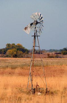 Kansas Windmill - by Blackmon Photography