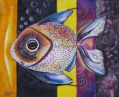 Study for AcidFish 90 Fish Art Original from J. Fish Illustration, Phish, Bob Ross, Animal Decor, Fish Art, Online Gallery, Large Art, Marine Life, Watercolour