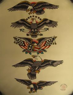 American Traditional eagle designs