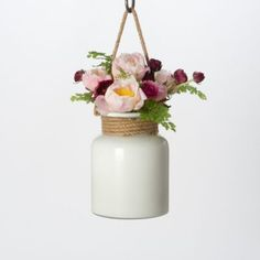 styling by melissa j. lowrie | Milk Glass Hanging Lantern in House+Home DECORATING Vases + Accents Vases at Terrain