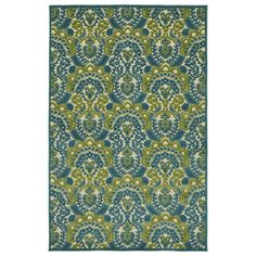 Picks up Green, but need right size - Machine-Made in Turkey of 100-percent Polypropylene, this easy to clean Indoor/Outdoor rug is UV protected and mildew resistant for many seasons of durability.